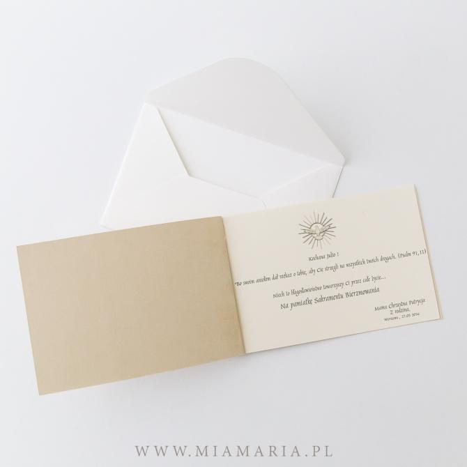 karta z CYTATEM w kopercie