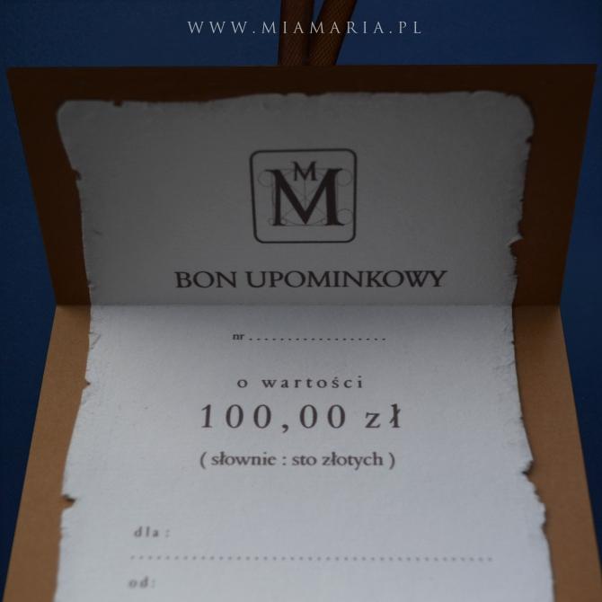 BON UPOMINKOWY 300 zł