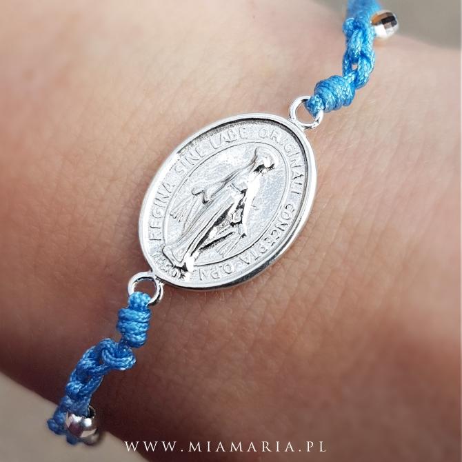 Bransoletka MiaMaria II (ze srebrnym Cudownym Medalikiem)