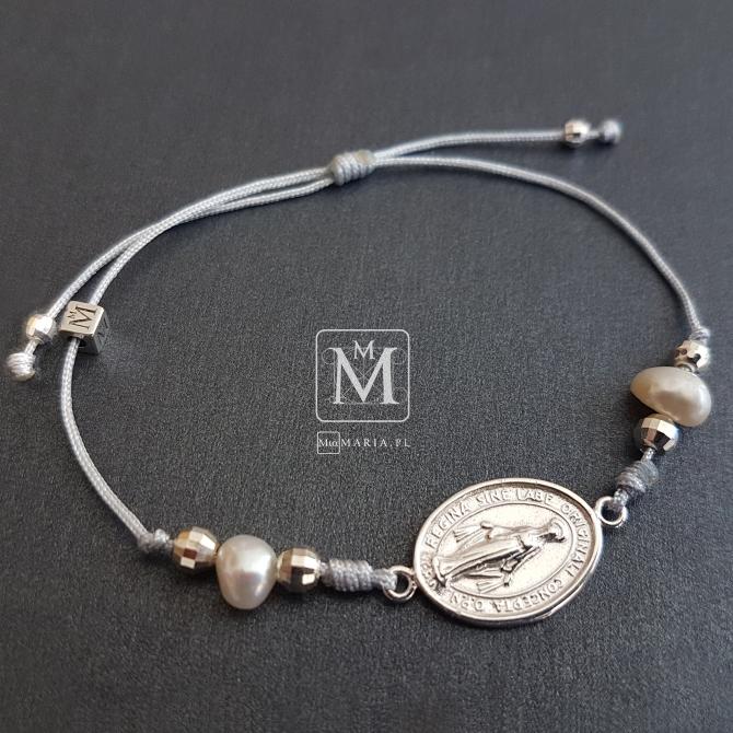 Bransoletka MiaMaria (ze srebrnym Cudownym Medalikiem)