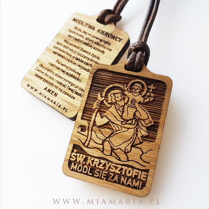 Breloczek dla Kierowcy (św. Krzysztof)