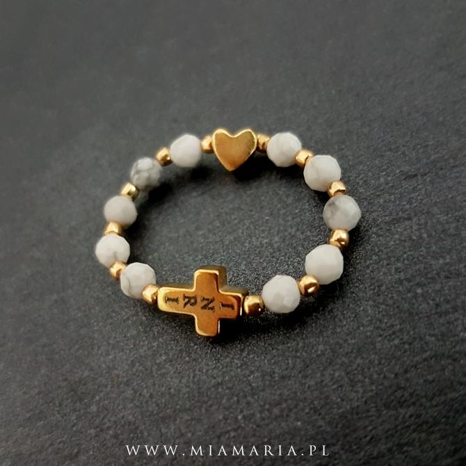 Różaniec (w formie obrączki) MiaMaria XXVII